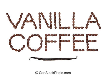 Vanilla Coffee - Vanilla coffee bean design in word form...