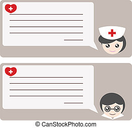 Memo from doctor or nurse illustration - Memo from doctor or...