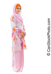 Full body Southeast Asian Muslim girl - Portrait of full...