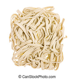 Asian dried noodles - Nests of Asian dried noodles isolated...