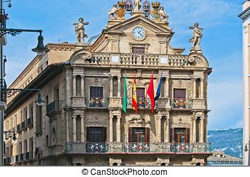 Town Hall of Pamplona, Navarra, Spain