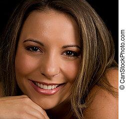 Beautiful Face - Beautiful Young Woman Smiling