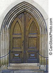 Gothic door - Gothic wooden door