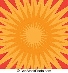 Orange Starburst - An orange star burst illustration that...