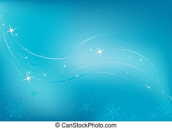 Frozen Background - christmas illustration