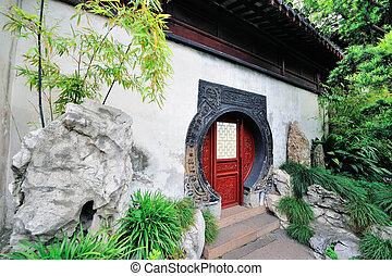 Shanghai old building - Old Chinese doorway in Shanghai