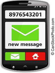 Mobile Phone with SMS - Mobile phone with notification about...