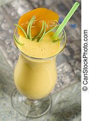 Indian, cocktail, drink Mango Lassi.