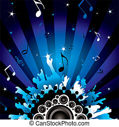 disco crowd - modern background with a disco theme with...