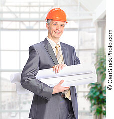 Civil engineer in the office. - Civil engineer in the...