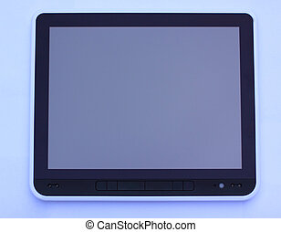 tablet computer isolated on the ba