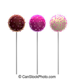 Pop Cakes - 3D Illustration of Pop Cakes Detailed Render on...