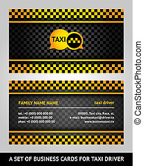 Visiting cards - taxi, vector illustration 10eps