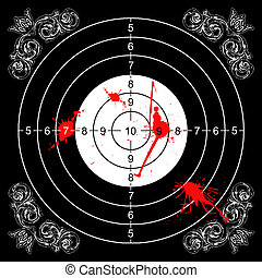 bloody baroque target - baroque wall target for shooting...