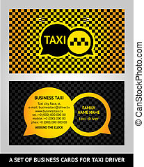 Visiting cards taxi, vector illustration 10eps