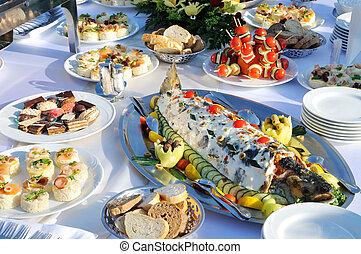 Tasty food on the table - Tasteful food, luxury and colorful...