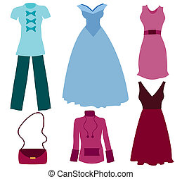 vectors of different clothes - Its an illustration in a EPS...