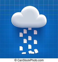 Downloading from cloud storage process - documents dropping...