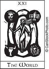 World Tarot Card