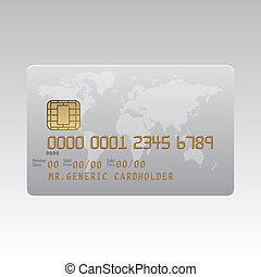 Generic plastic credit card illustration - Generic plastic...