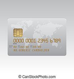 Generic plastic credit card illustration - Generic plastic...