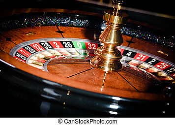 Close up view of roulette at the casino