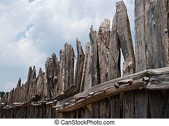 Old fence in Jameston, Virginia, USA
