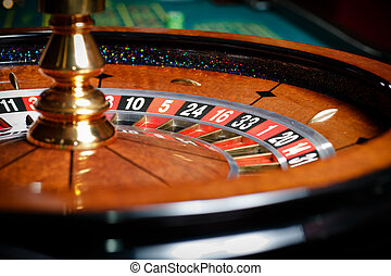 Close up of roulette at the casino