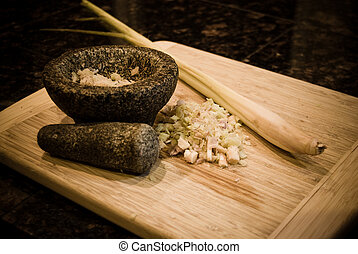 Stone pestle & mortar - Pestle & Mortar made from stone with...