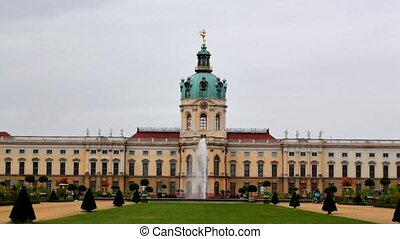 Fountain in the park of the palace Charlottenburg West...