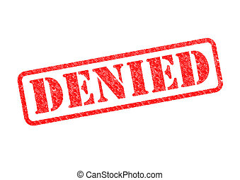 DENIED - DENIED Red Stamp over a white background