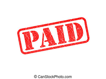 PAID Stamp - PAID Red Stamp over white background
