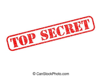TOP SECRET - TOP SECRET Red Stamp over a white background