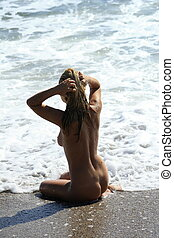 naked women on the beach - Blonde naked women on the beach
