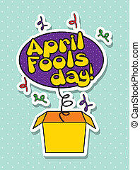 april fools day - april foods day illustration with surprise...