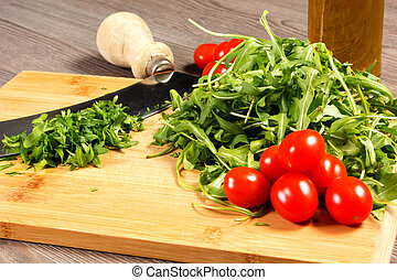rucola on the table