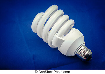 Energy efficient light bulb closeup photo
