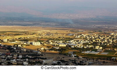 Panoramic view to Jericho, Palestine, Israel - Panoramic...