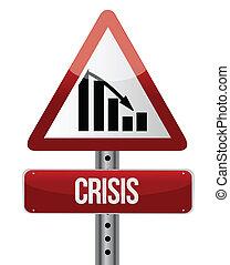 Downward trend concept crisis illustration design