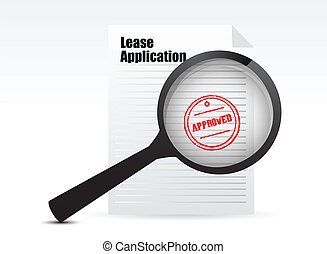 Lease Applications sign illustration design over white
