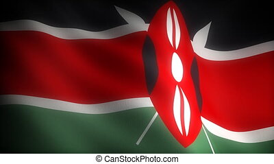 Flag of Kenya seamless