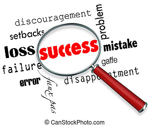 Finding Success Amid Failure - Magnifying Glass - A...