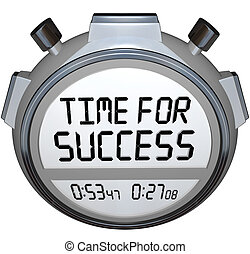 Time for Success Words Stopwatch Timer Win Race - A...