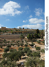 Golden Gate in Jerusalem - Ancient defensive walls in...
