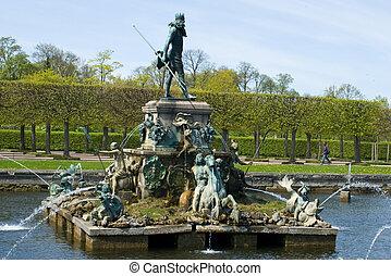 Fountains of Peterhof. St. Petersburg. Russia.