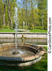 Fountains of Peterhof. St. Petersburg. Russia.