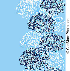 chrysanthemums - Vector illustration of seamless pattern...