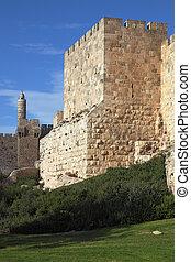 Grandiose Tower of David - Grandiose walls of Jerusalem and...