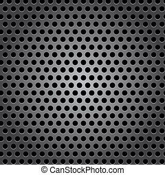 Seamless circle metal surface texture