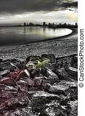 Sonne nach Dunkelheit - Salmiyah city under IR filter and...